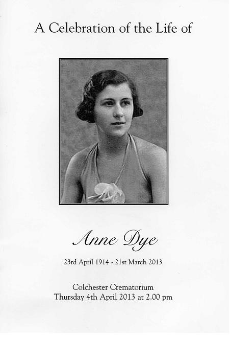Anne Dye OfoS