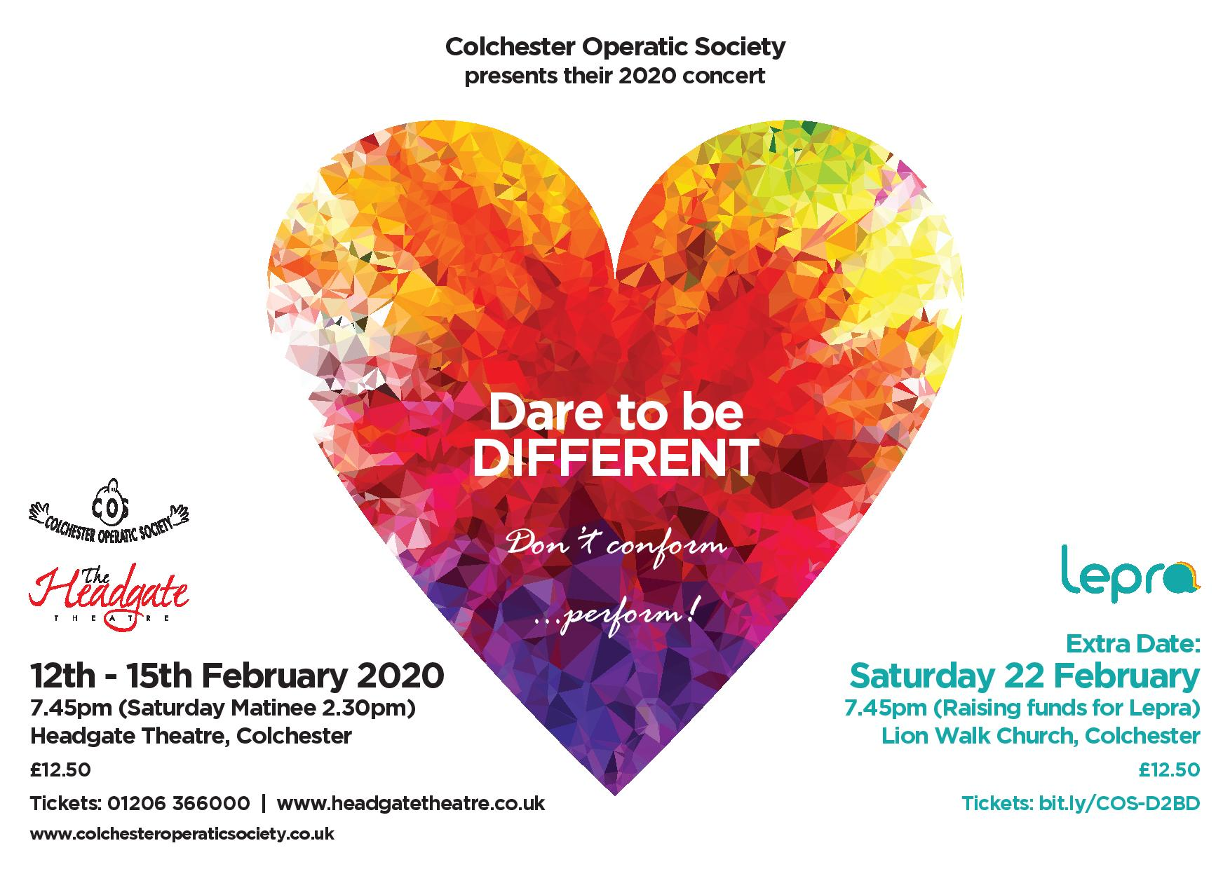 Dare to be Differet Concert artwork